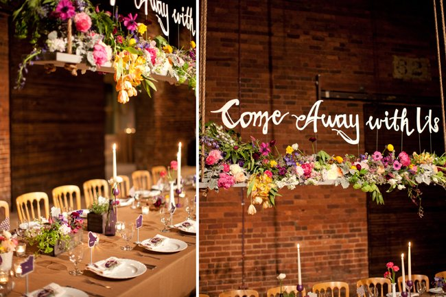 hanging wedding decor flowers - amy osaba - midsouthbride.com