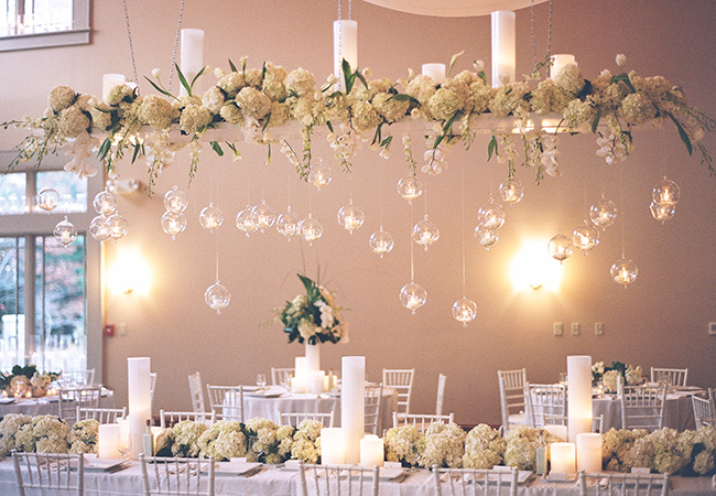 hanging wedding flowers centerpieces - midsouthbride.com