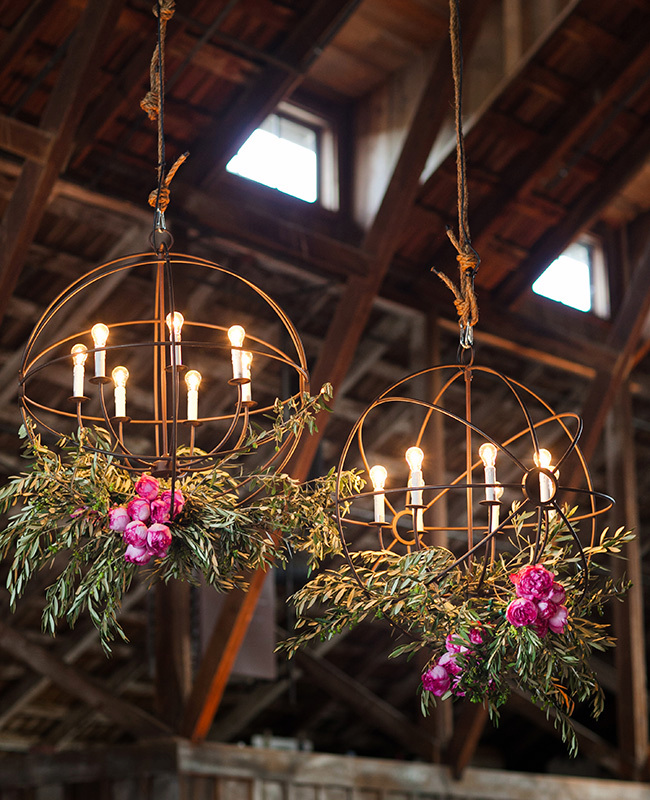hanging wedding flowers chandelier - midsouthbride.com