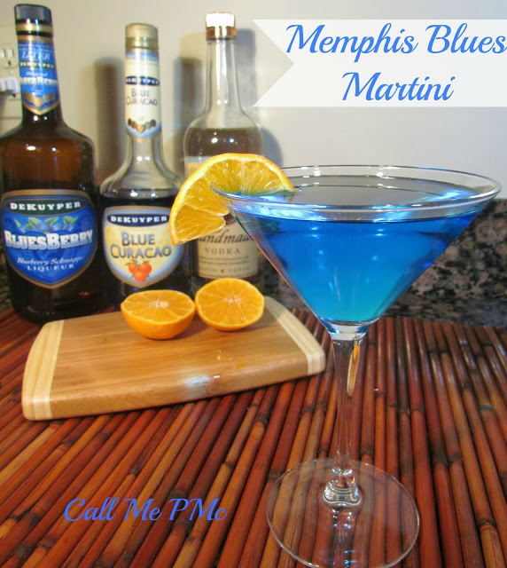 memphsi signature drinks - memphis blues martini from the peabody