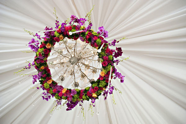 wedding flower chandelier - wedding decor - midsouthbride.com