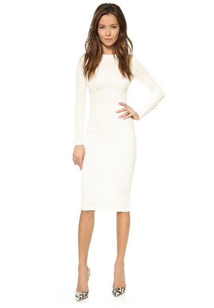5th & Mercer white Long Sleeve Dress