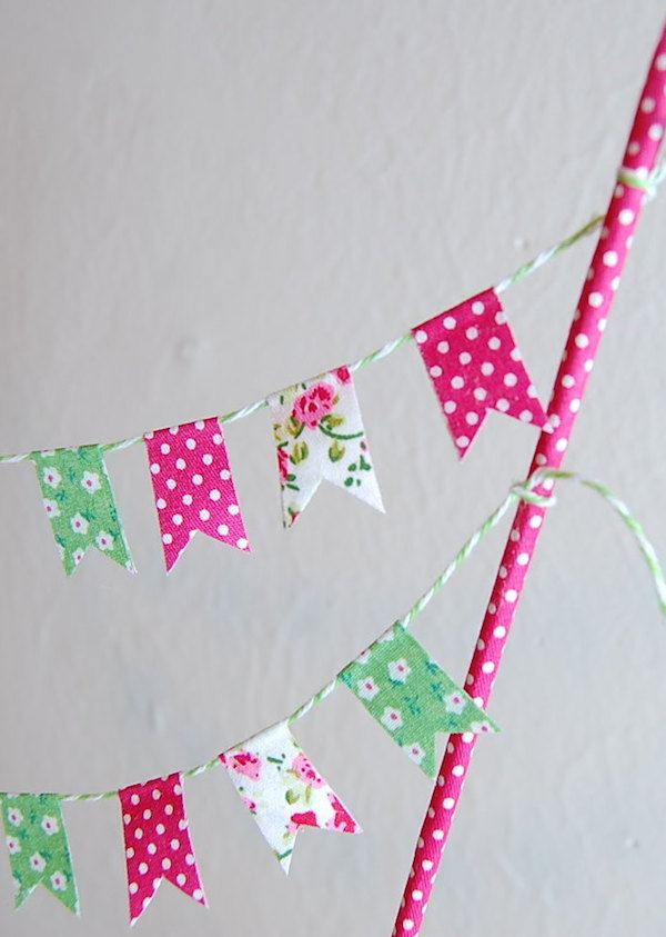 DIY fabric cake bunting - midsouthbride.com