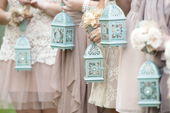 bridesmaids carrying lanterns - photo by The Photo Love - midsouthbride.com
