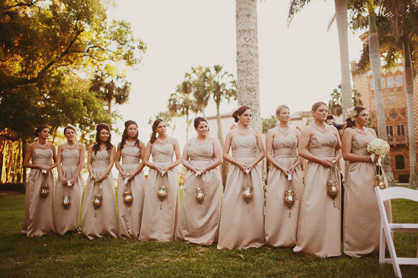 bridesmaids with lanterns - photo by Binary Flips - midsouthbride.com