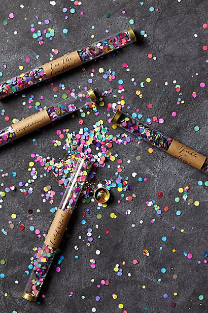 confetti wand by anthropologie for wedding