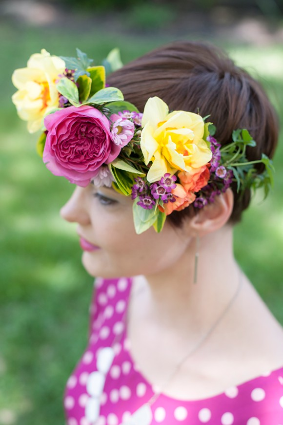 everbloom designs - DIY flower crown - midsouthbride.com