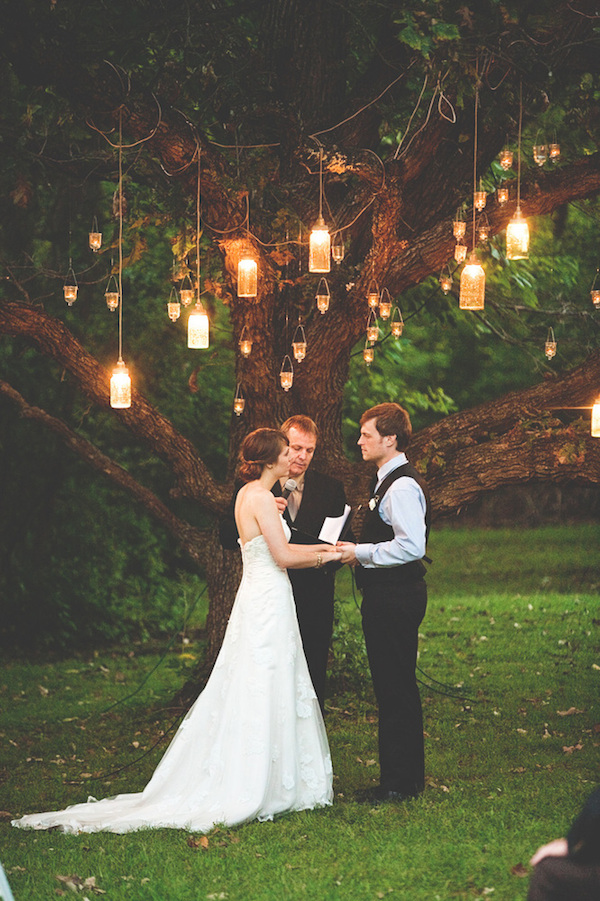 hanging lanterns wedding lighting - photo by Steven Michael Photo - midsouthbride.com