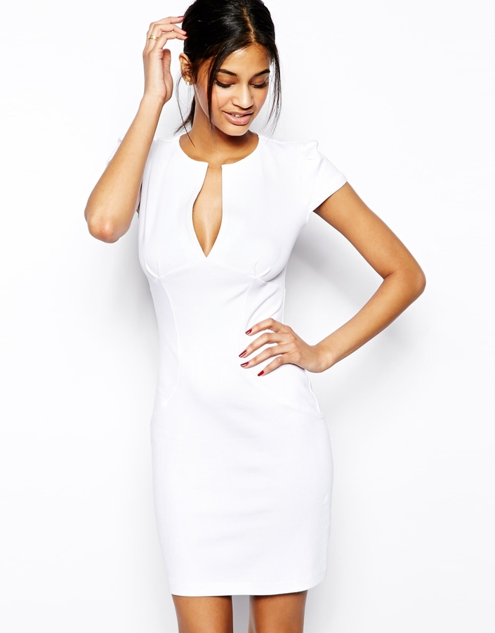 little white dress - ASOS Mini Sexy Pencil Dress