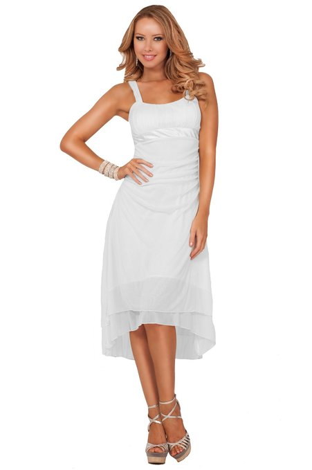 little white dress - Hot From Hollywood Women's Sleeveless Bridesmaids Cocktail Dress