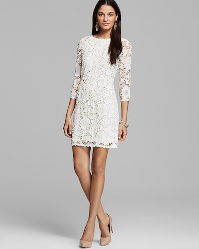 little white dress - Leslea Crochet Lace by Velvet by Graham & Spencer