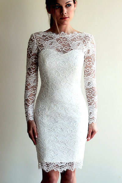 little white dress - french lace illusion dress