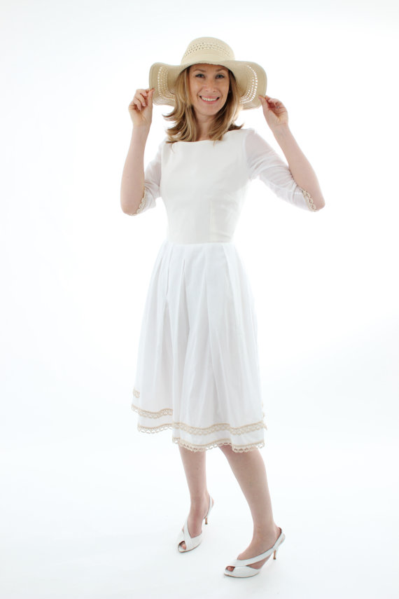 little white dress - organic cotton dress