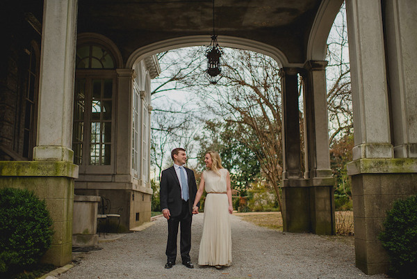 memphis engagement photos annesdale mansion - photo by Danny K Photography - midsouthbride.com