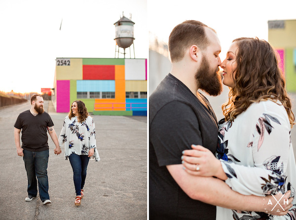 memphis water tower broad ave engagement - photo by Amy Hutchinson Photography - midsouthbride.com