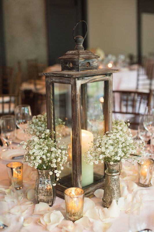 wedding lantern centerpiece - photo by Realities Photography - midsouthbride.com