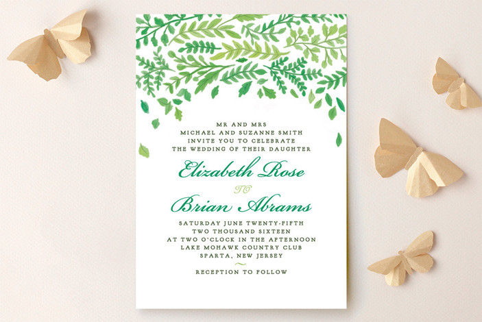 green china plate wedding invitations from minted