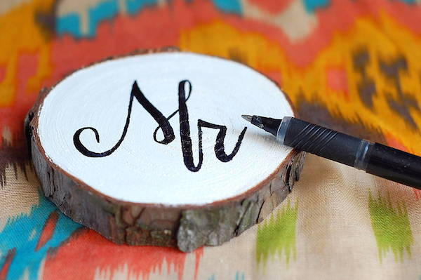 diy painted wood wedding coasters mr