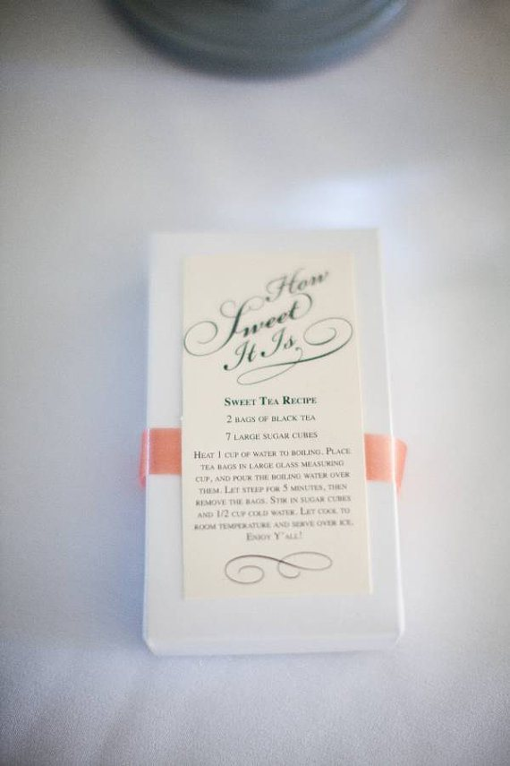 sweet tea favor for a tea party bridal shower - the treasury paper and gift - midsouthbride.com