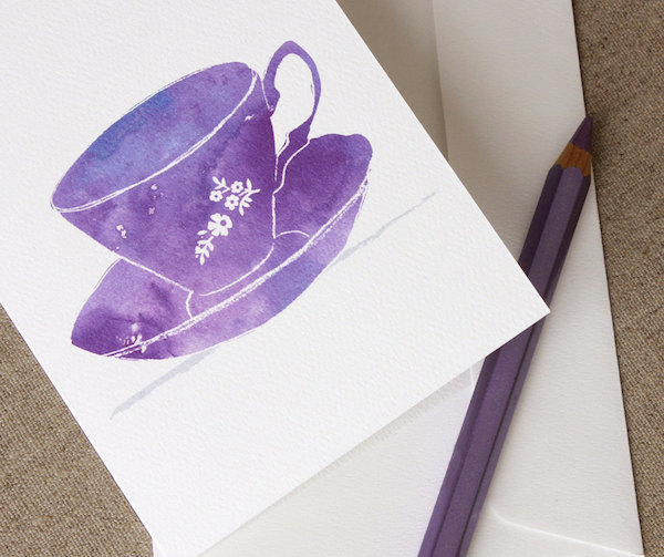 tea cup thank you card for tea party bridal shower - BellaStationery - midsouthbride.com