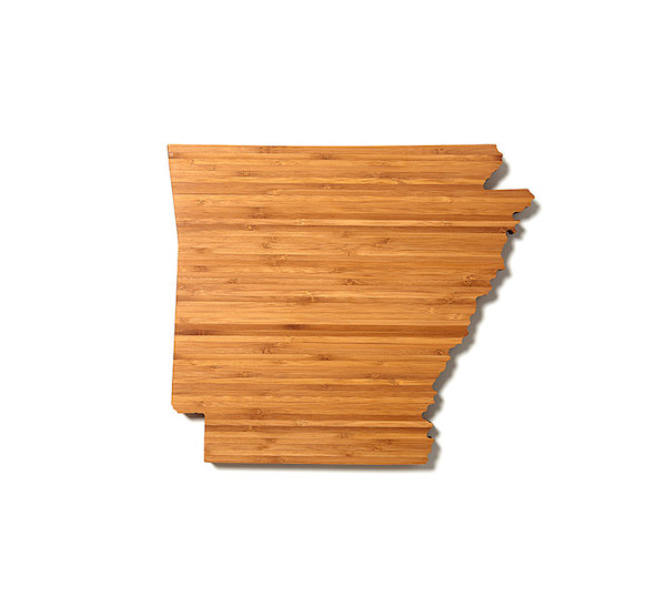 wedding gift - arkasnas state cutting board