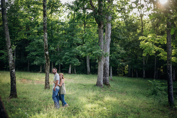 Carson and Ryan Tennessee Forest Engagment 5 - photo by Healthy Faulkner Photography - midsouthbride.com