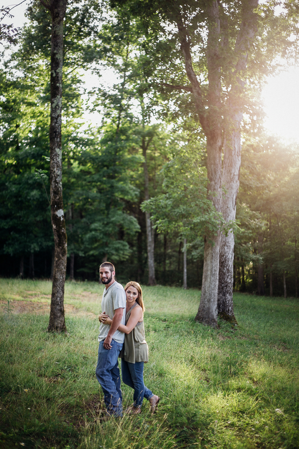 Carson and Ryan Tennessee Forest Engagment 6 - photo by Healthy Faulkner Photography - midsouthbride.com