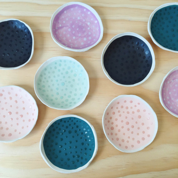 Half-tone Dots Ring Dish by Paper and Clay in Memphis