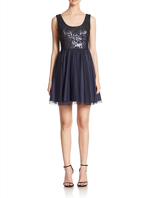 Aidan Mattox Sequined Tulle Bridesmaid Dress