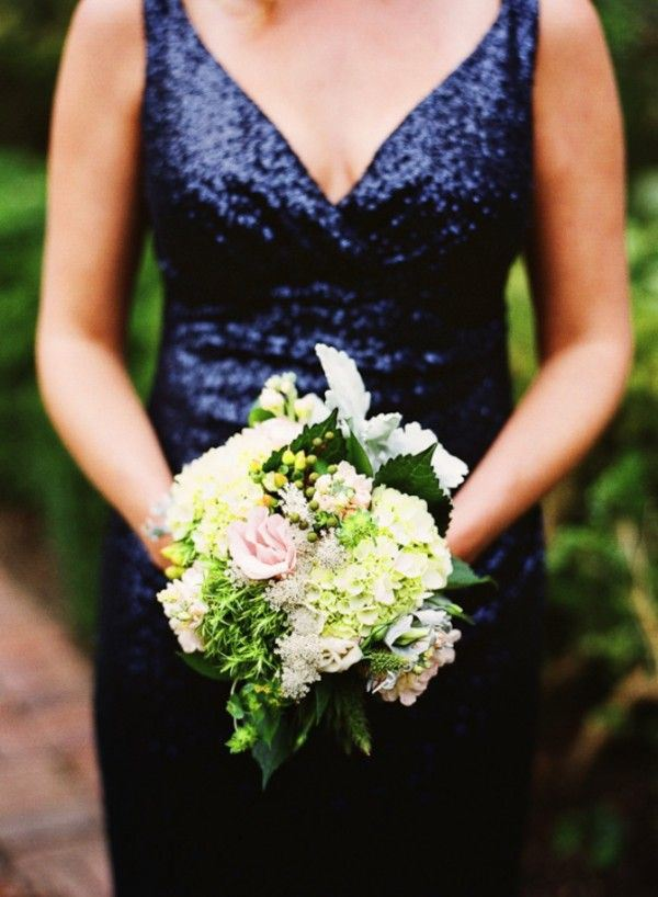 blue sparkly sequinwedding dress
