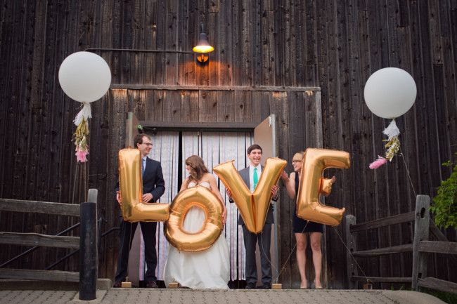giant letter balloons for wedding photo props