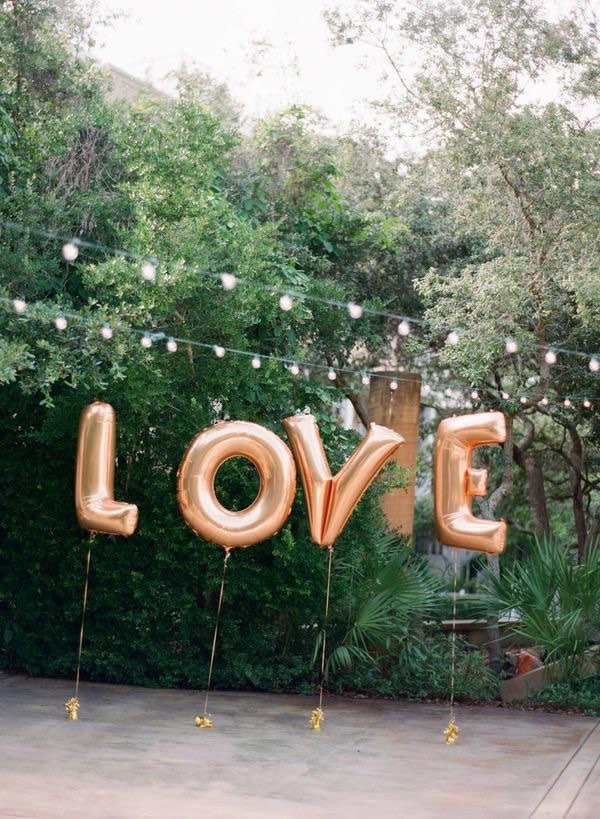 Giant Letter Balloon Wedding Ideas Mid South Bride