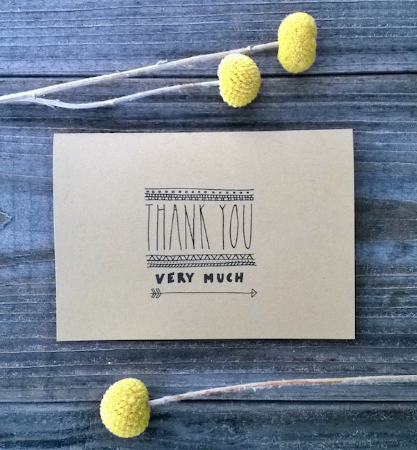 rustic thank you cards for weddings - by ChampaignPaper - midsouthbride.com