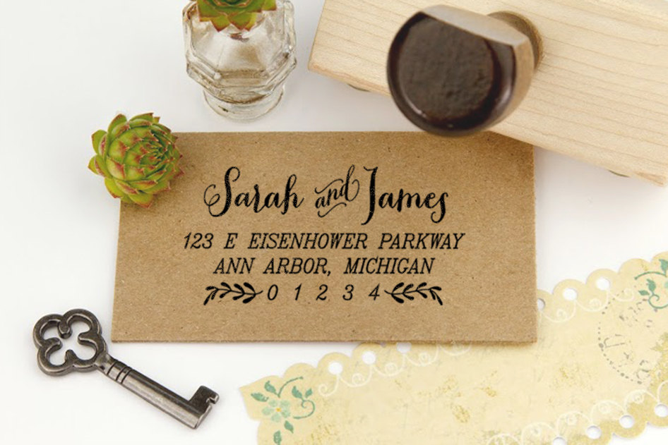 13 Custom Personalized Address Stamp Ideas | Mid-South Bride