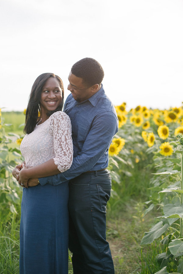 Jamarcus & Vicki Sunflower Memphis Engagement - 1-1derful Creation Photography - midsouthbride.com 8