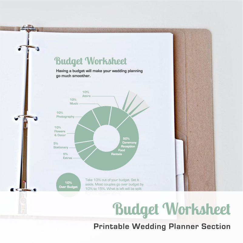 Printable Wedding Budget Worksheet by hello bride