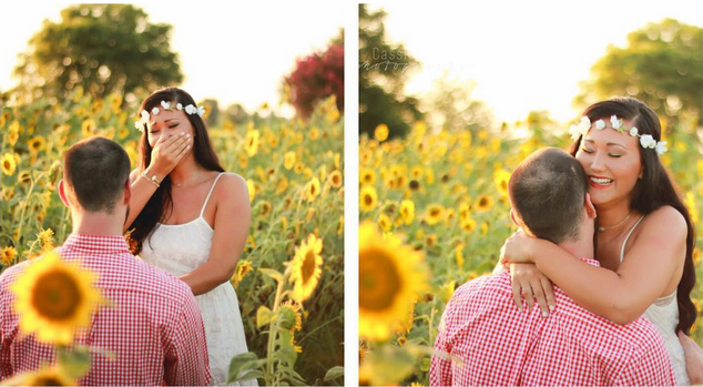 Tyler & Jessica's Sunflowers Surprise Proposal in Mississippi - Cassie Cook Photography - midsouthbride.com