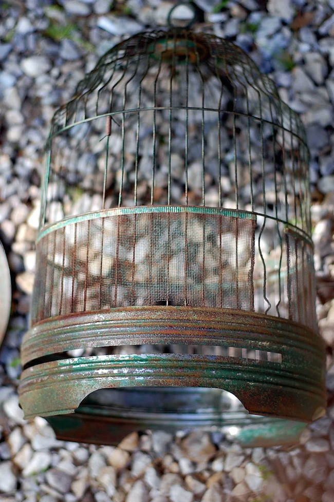 diy copper birdcage flower vase centerpieces cage