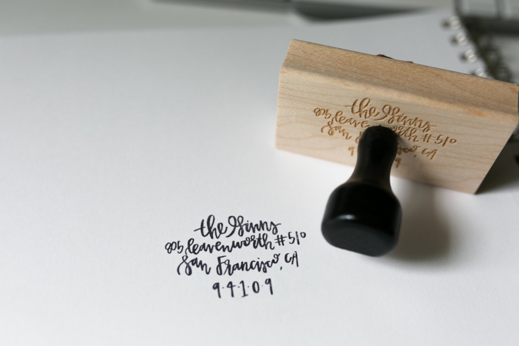13 Custom Personalized Address Stamp Ideas Mid South Bride