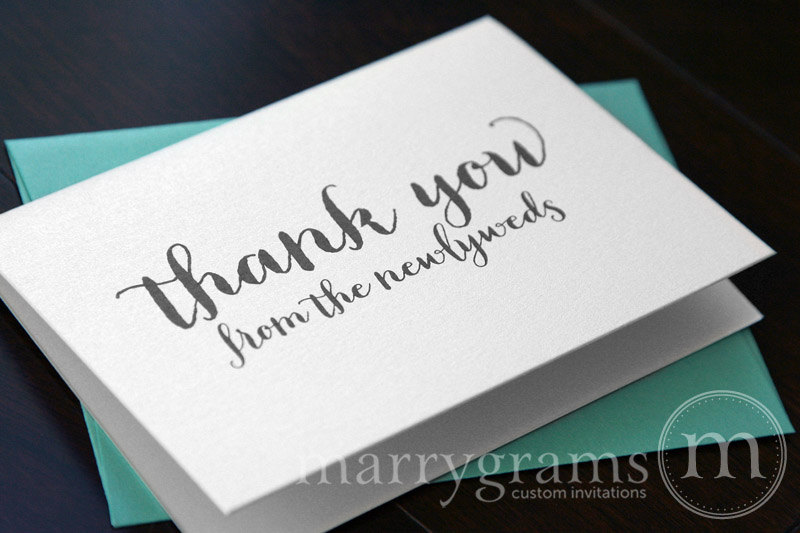 thank you from the newlyweds - wedding thank you card