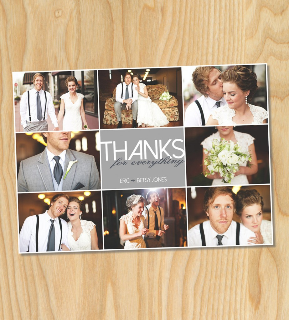 thanks for everything thank you card for wedding thank yous