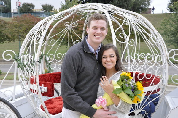 Catherine & Jack's Beale Street Landing Proposal Carriage Ride- photo by Sara - midsouthbride.com