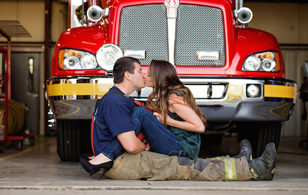 Christine & Zac's Firefighter Engagement Session - photo by Crystal Brisco Photography - midsouthbride.com 2