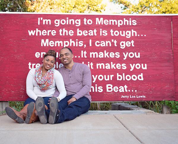Courtney & Myron Downtown Memphis Engagement - Andrea King Photography - midsouthbride.com 15