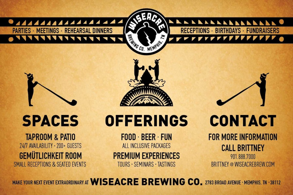 Memphis wedding venue - Chautauqua at Wiseacre Brewery