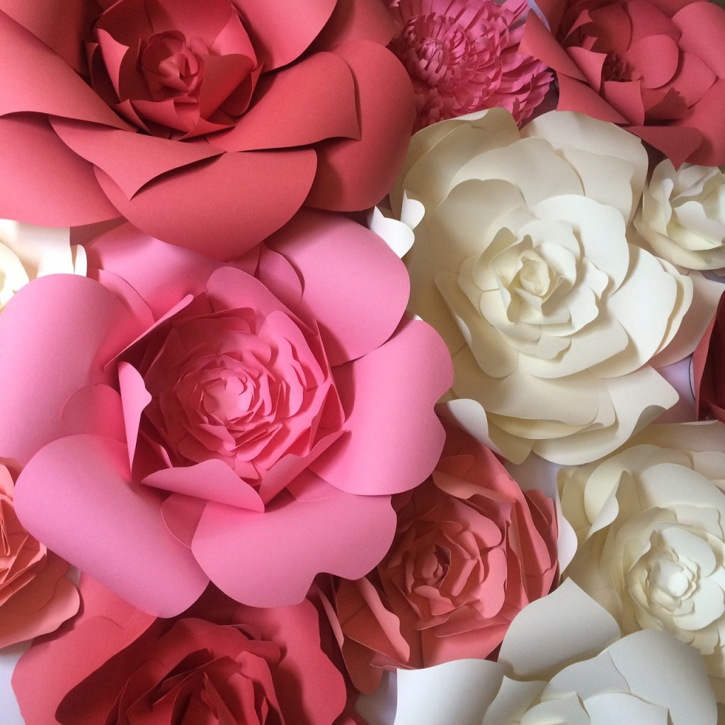 Paper Flower Wall Decor, large paper flower backdrop, giant paper flowers by Paper Flora on Etsy