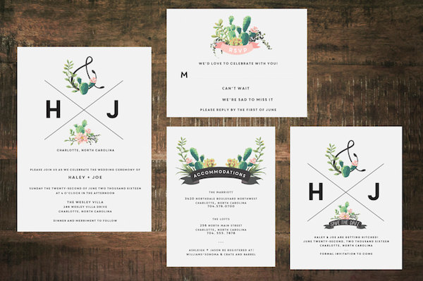 Printable Cactus Succulent Wedding Invitation By The Woolberry Press Midsouthbride