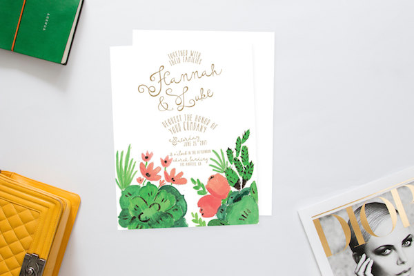 Printable Desert Succulent Wedding Invitation Suite by Heart and Fox - midsouthbride.com
