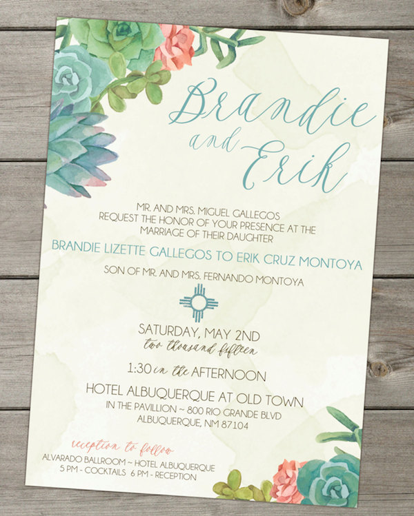 22 Gorgeous Succulent Wedding Invitations | Mid-South Bride