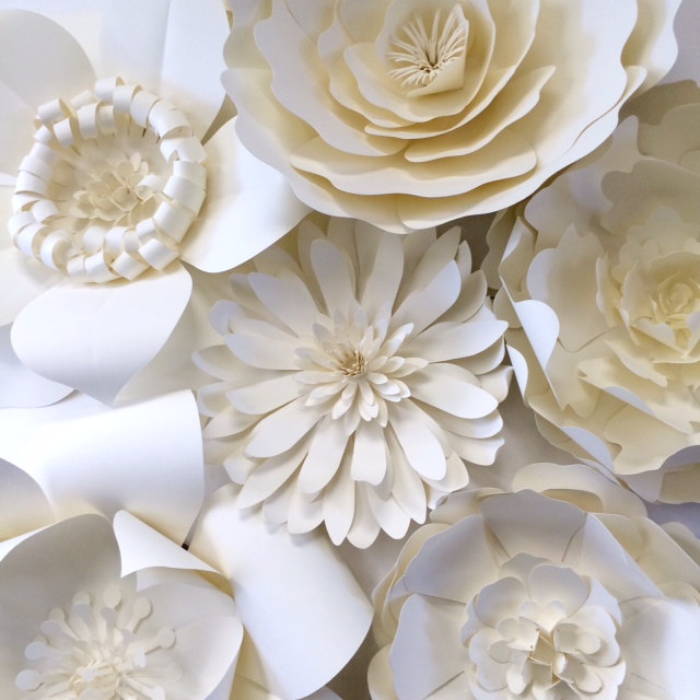 white paper flower wall decor large paper flower backdrop by paper flora on etsy